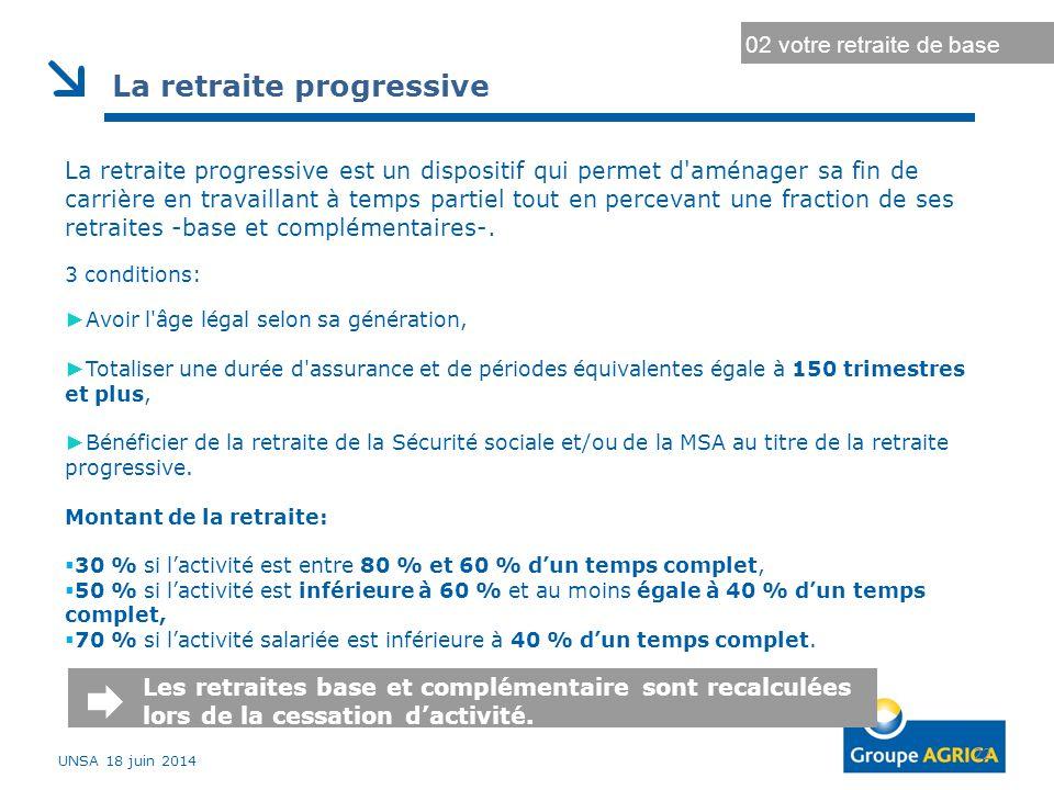 La retraite progressive