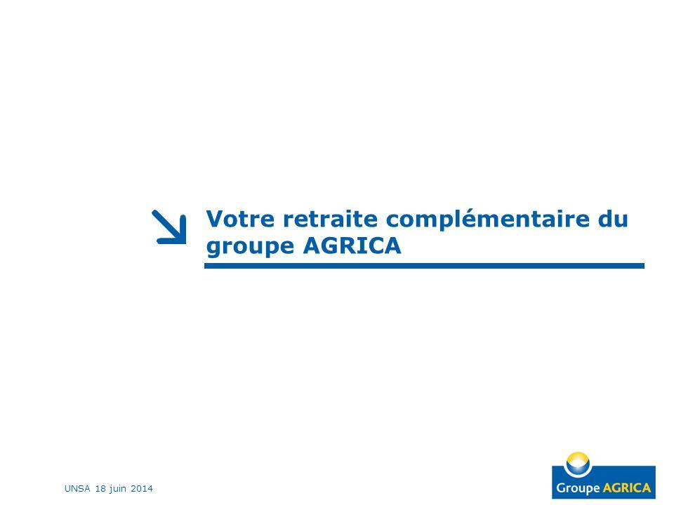 Votre retraite complémentaire du groupe AGRICA