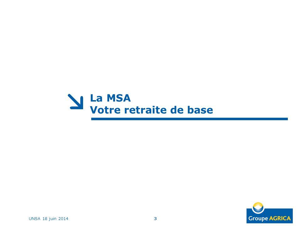 La MSA Votre retraite de base