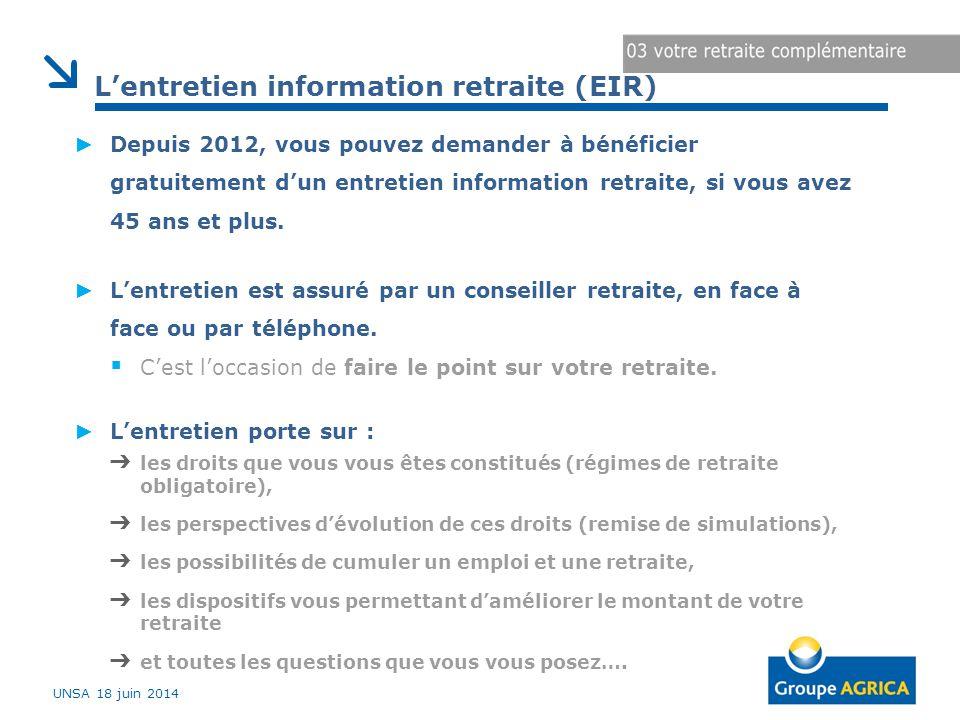 L'entretien information retraite (EIR)