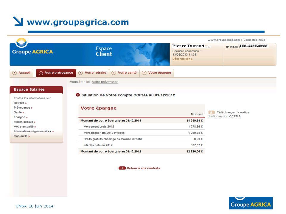 www.groupagrica.com UNSA 18 juin 2014