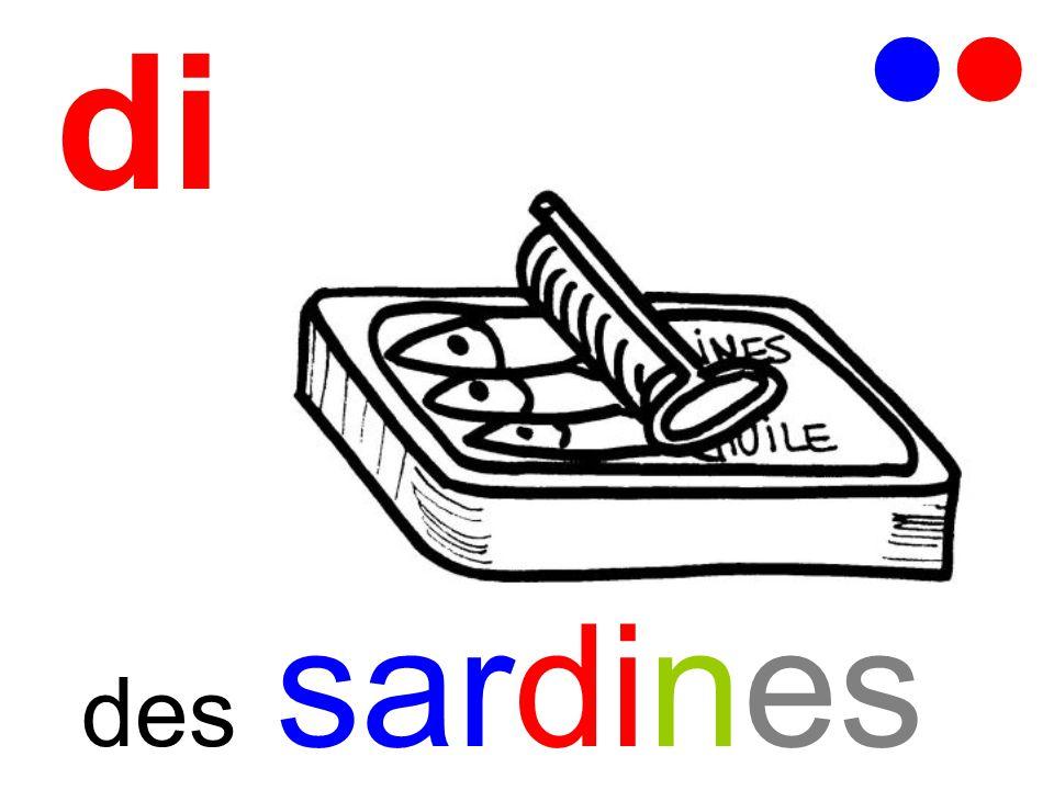 di   des sardines