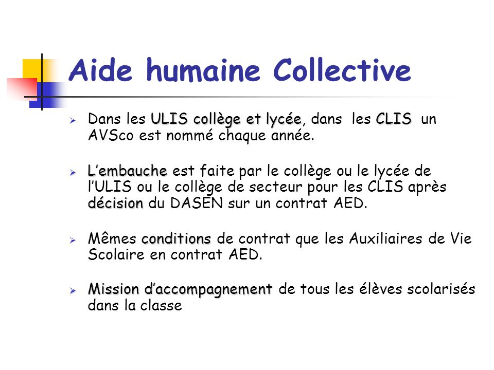 Aide humaine Collective