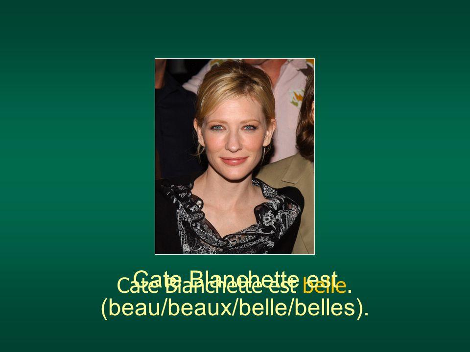 Cate Blanchette est (beau/beaux/belle/belles).