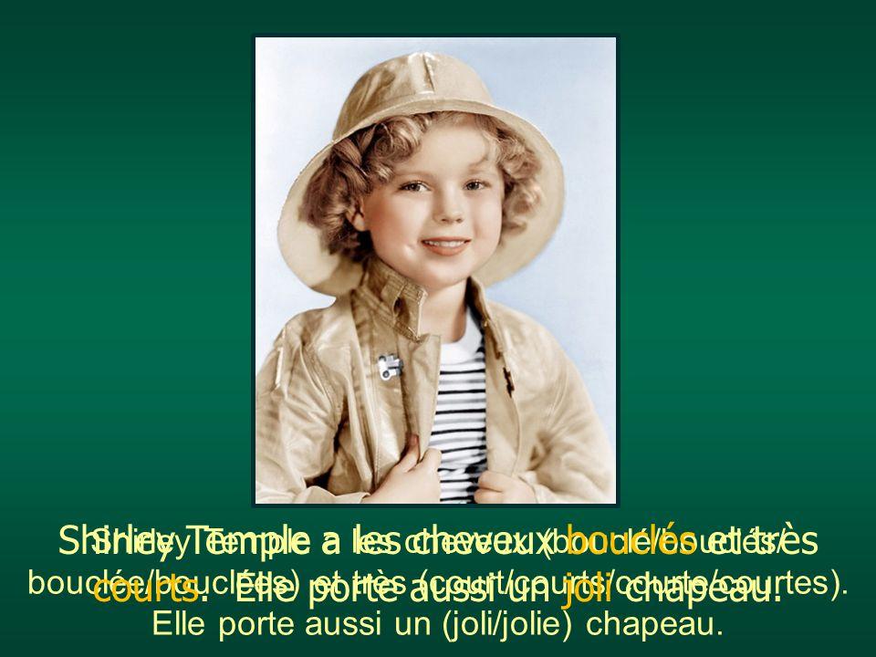 Shirley Temple a les cheveux (bouclé/bouclés/