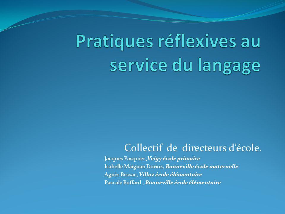 Pratiques réflexives au service du langage
