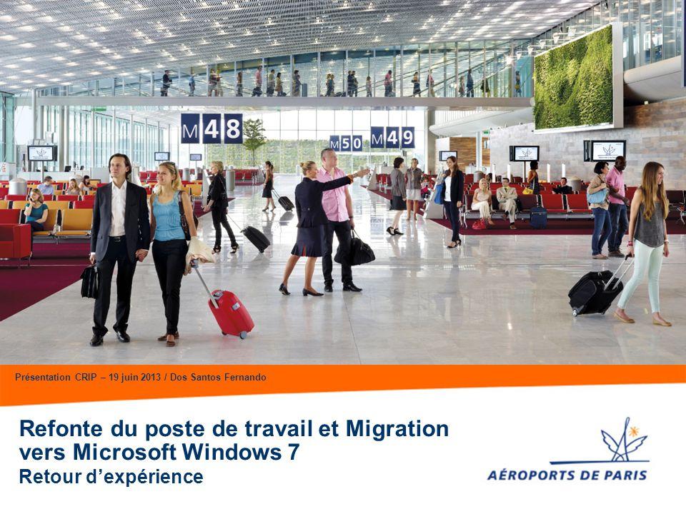 Refonte du poste de travail et Migration vers Microsoft Windows 7