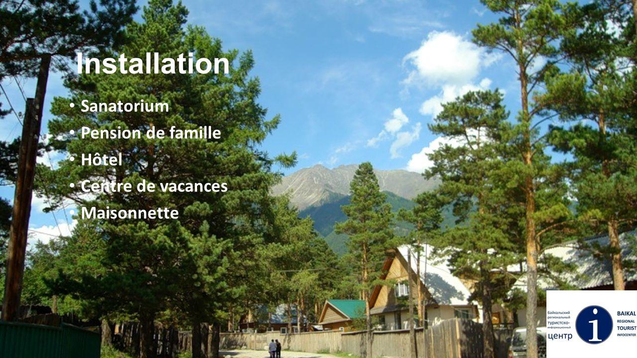 Installation Sanatorium Pension de famille Hôtel Centre de vacances