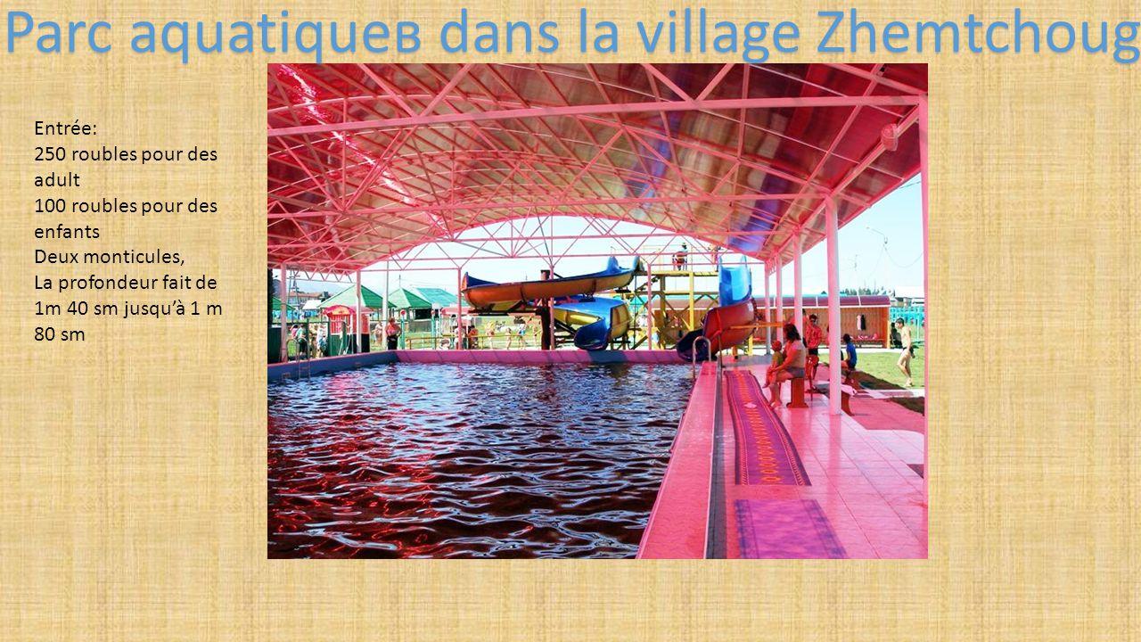 Parc aquatiqueв dans la village Zhemtchoug
