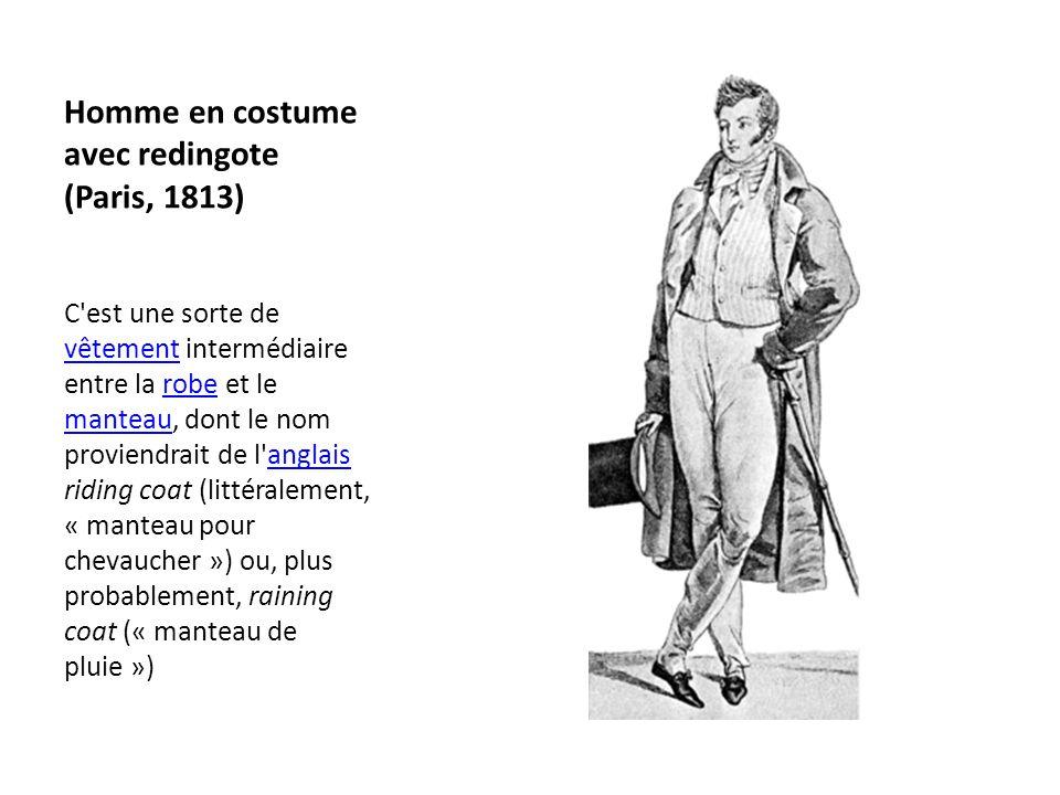 Homme en costume avec redingote (Paris, 1813)