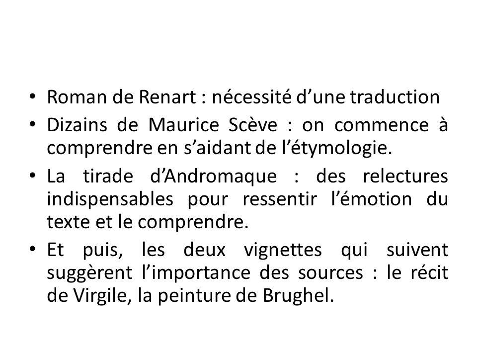 Roman de Renart : nécessité d'une traduction