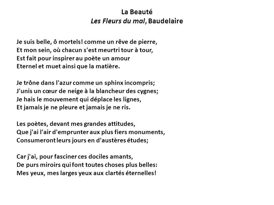 La Beauté Les Fleurs du mal, Baudelaire