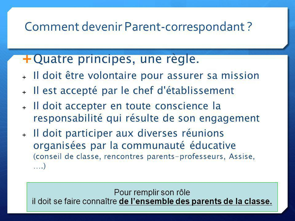 Comment devenir Parent-correspondant