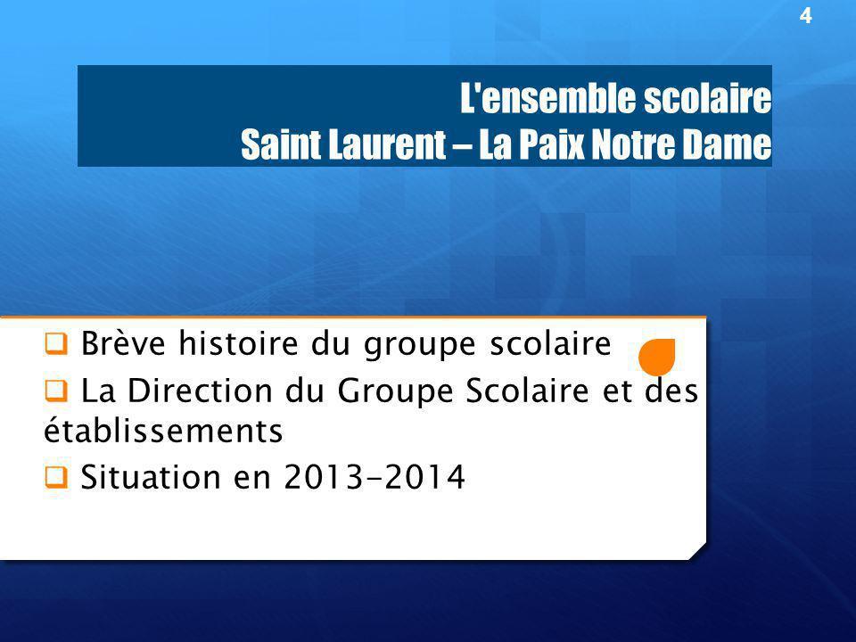 L ensemble scolaire Saint Laurent – La Paix Notre Dame