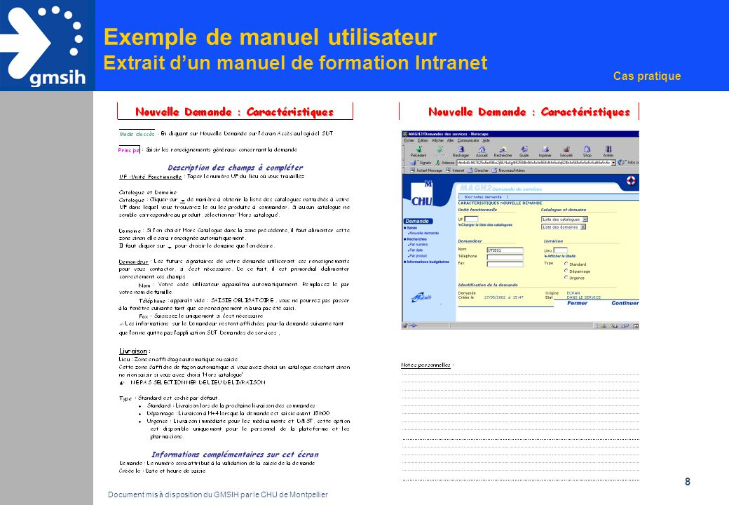 Document mis à disposition du GMSIH par le CHU de Montpellier