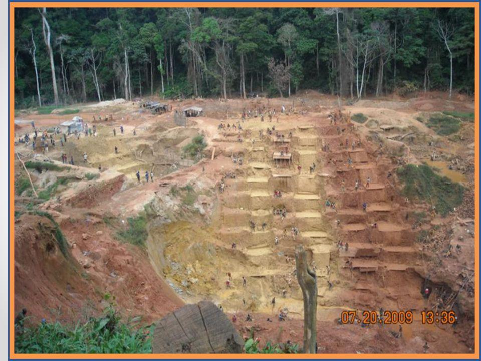 Les impacts environnementaux des activités ASM dans le bassin du Congo, et en particulier les mines d or, bien que dispersés et plus difficiles à évaluer et à surveiller, sont importants. En particulier en RDC, l échelle et l ampleur de l exploitation minière artisanale dans et autour des aires protégées est telle que la situation peut être appelé alarmant. Des efforts devraient être axés sur l organisation des mineurs artisanaux et l application des cadres réglementaires, y compris l application des «zones interdites» pour l exploitation minière. Cela signifie également que le droit d importation spécifique des mineurs artisanaux y compris la sécurité à long terme de l occupation et de l institut réaliste de l environnement et des exigences de sécurité.