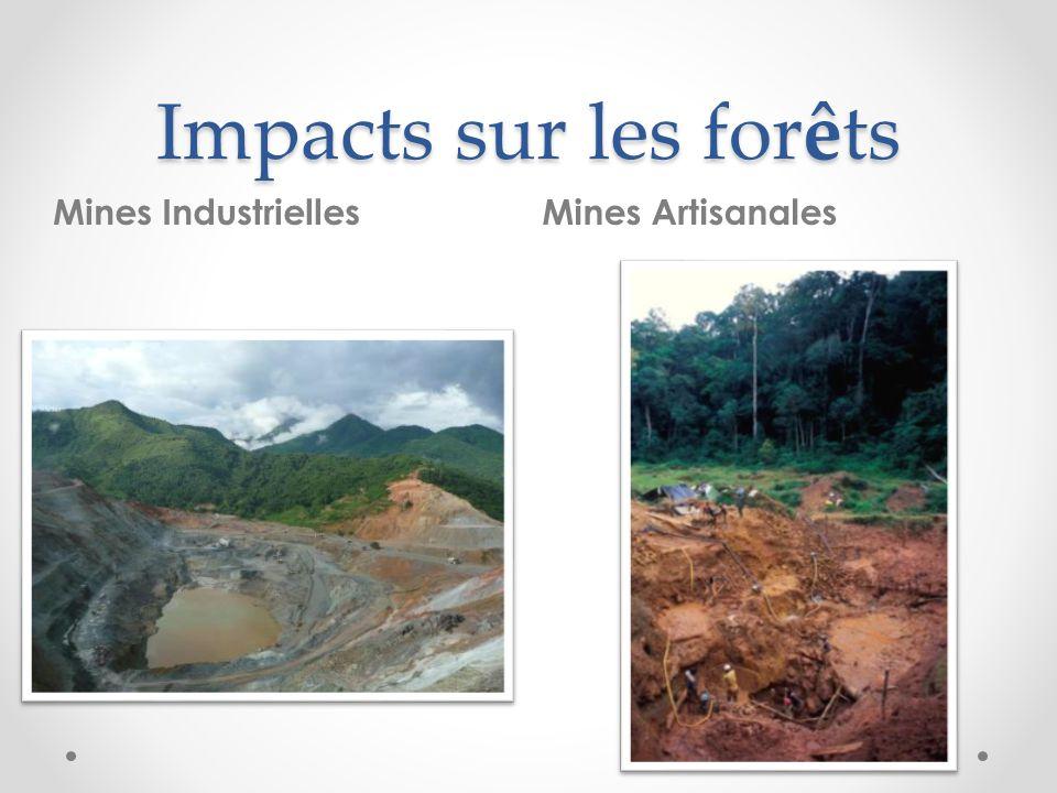 Impacts sur les forêts Mines Industrielles Mines Artisanales