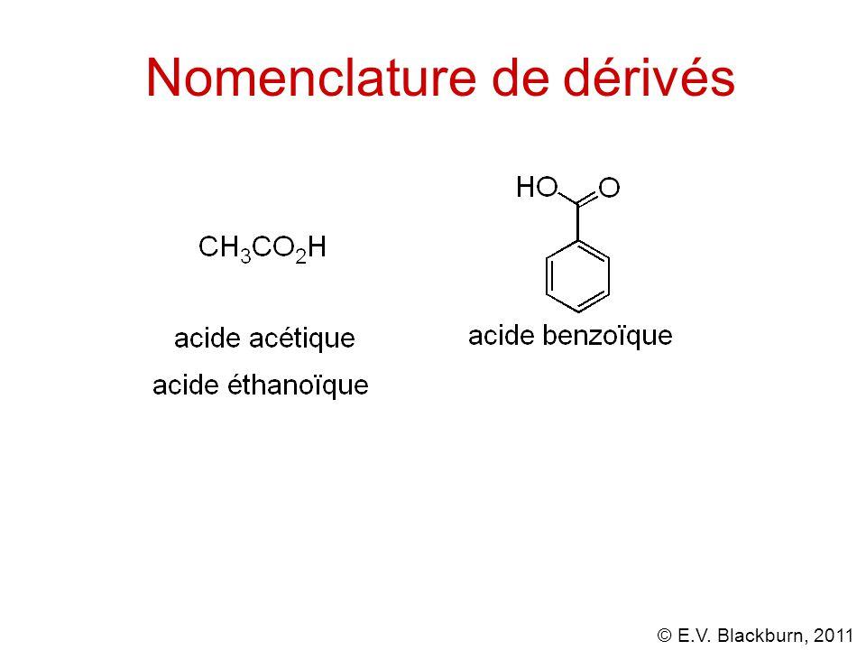 Nomenclature de dérivés