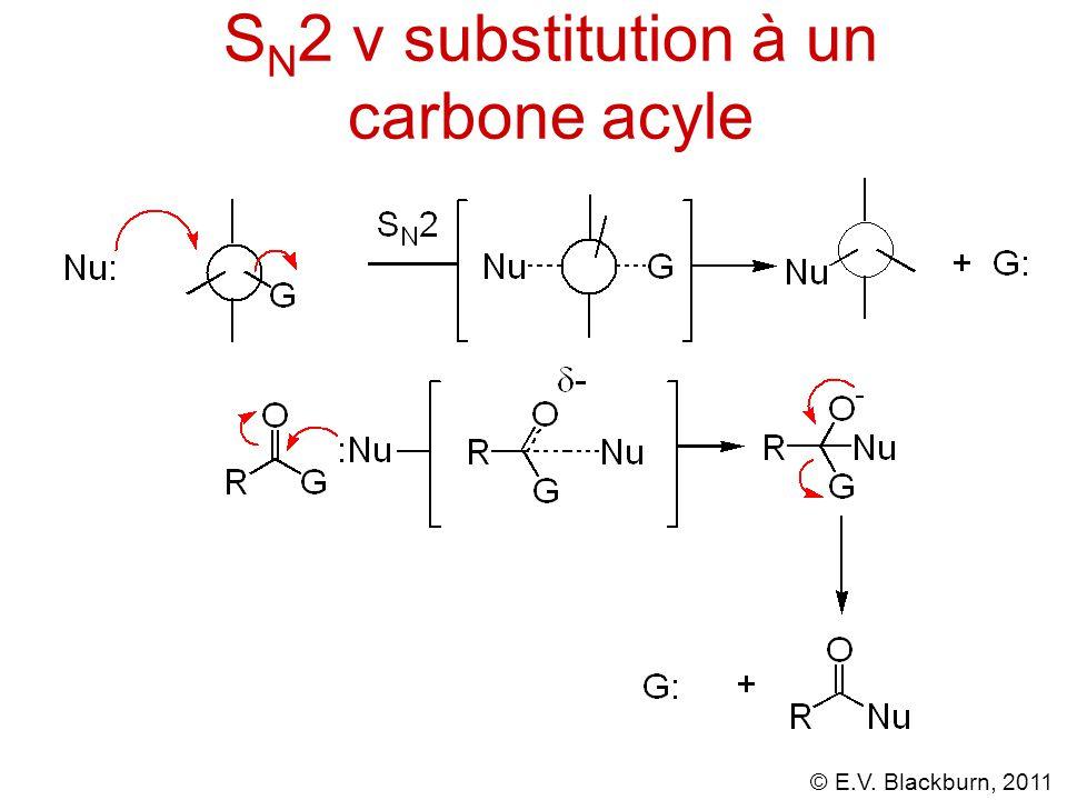 SN2 v substitution à un carbone acyle