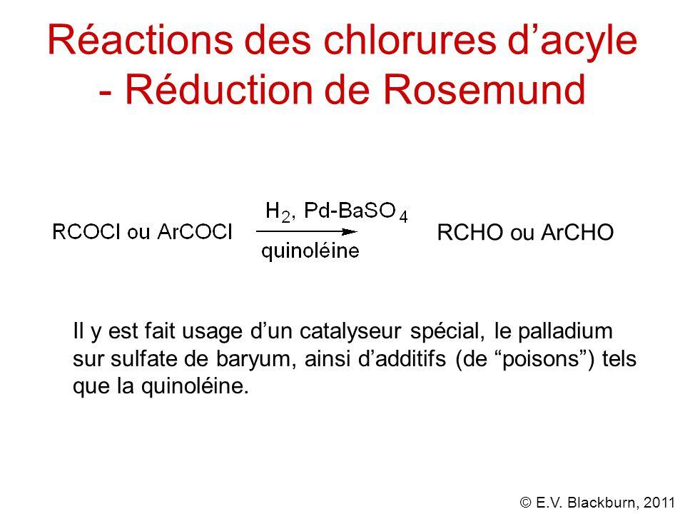 Réactions des chlorures d'acyle - Réduction de Rosemund