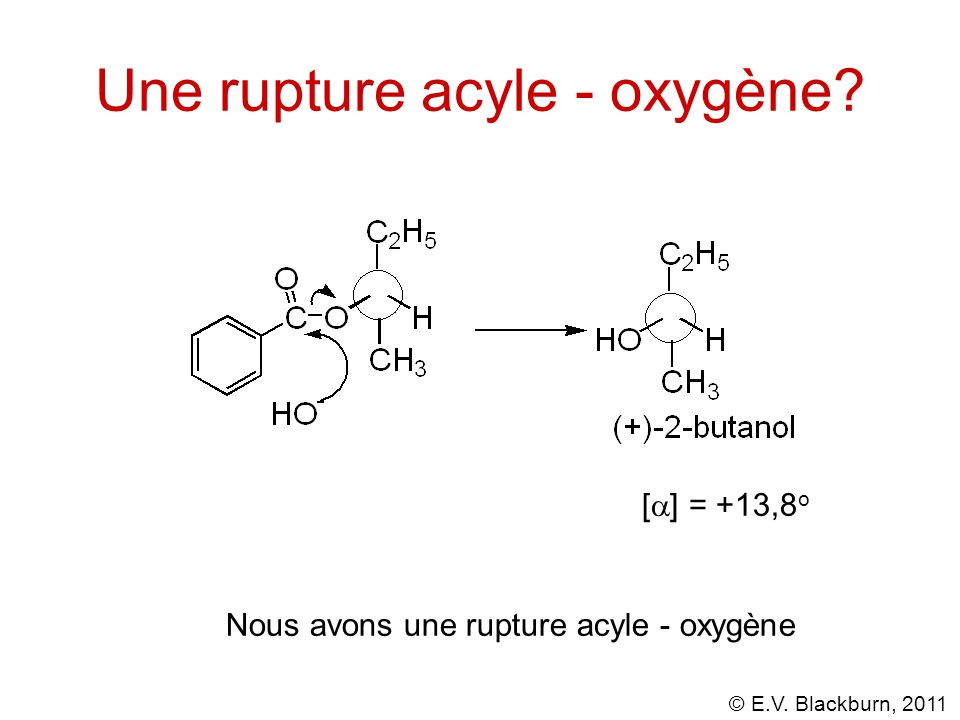 Une rupture acyle - oxygène