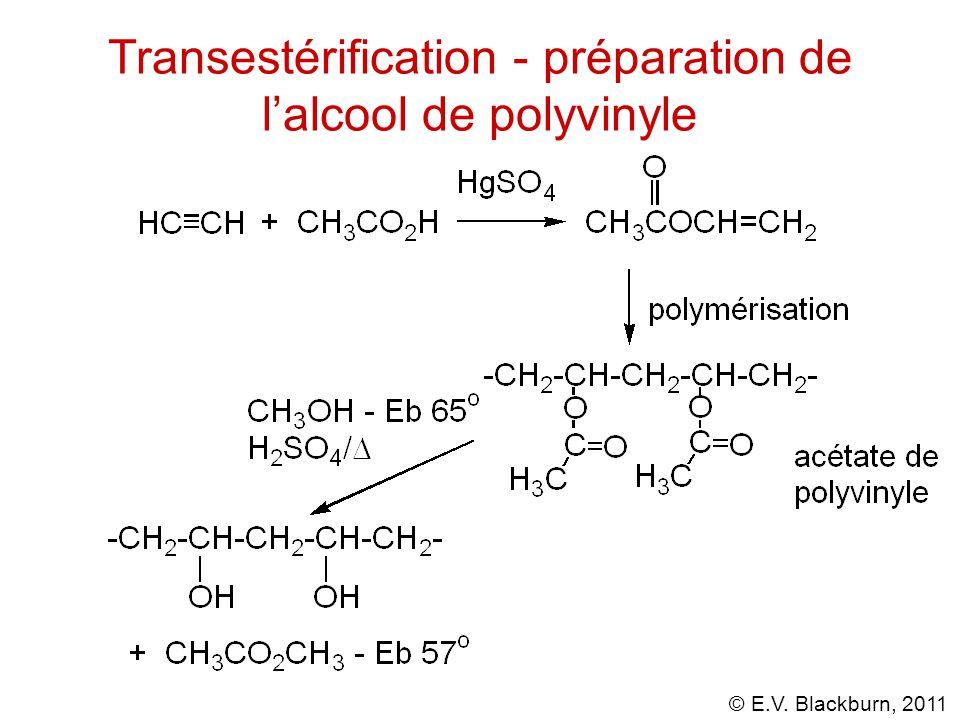 Transestérification - préparation de l'alcool de polyvinyle