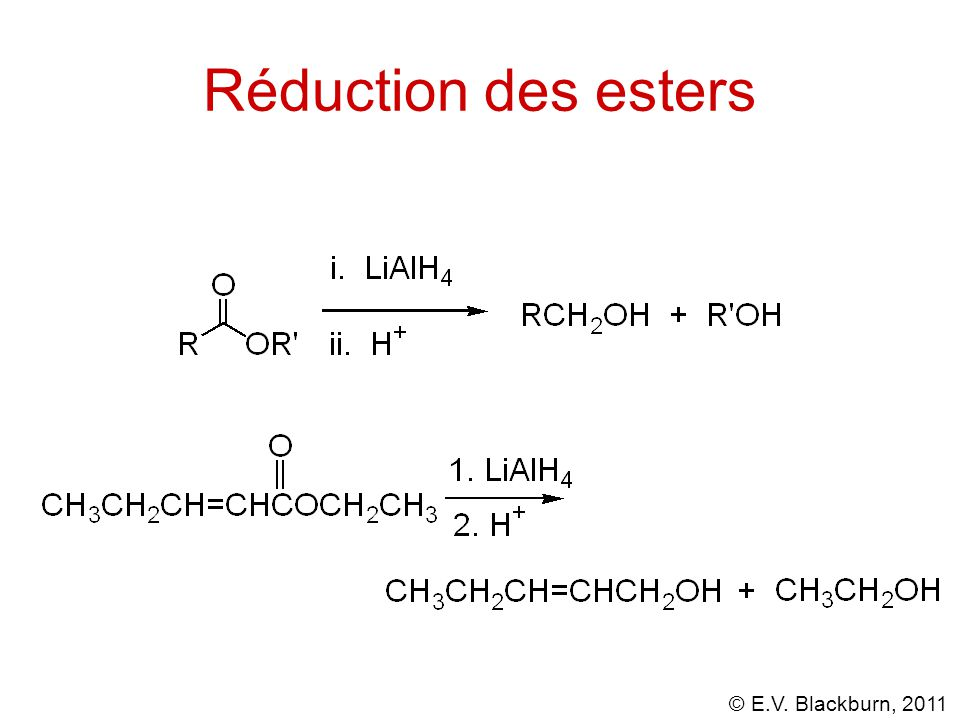 Réduction des esters