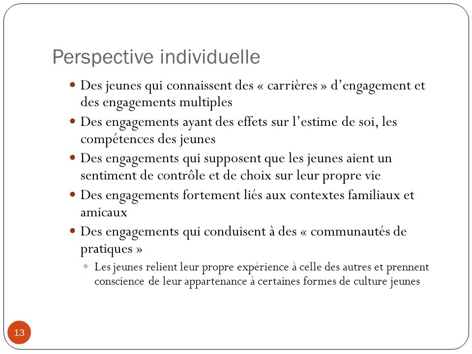 Perspective individuelle