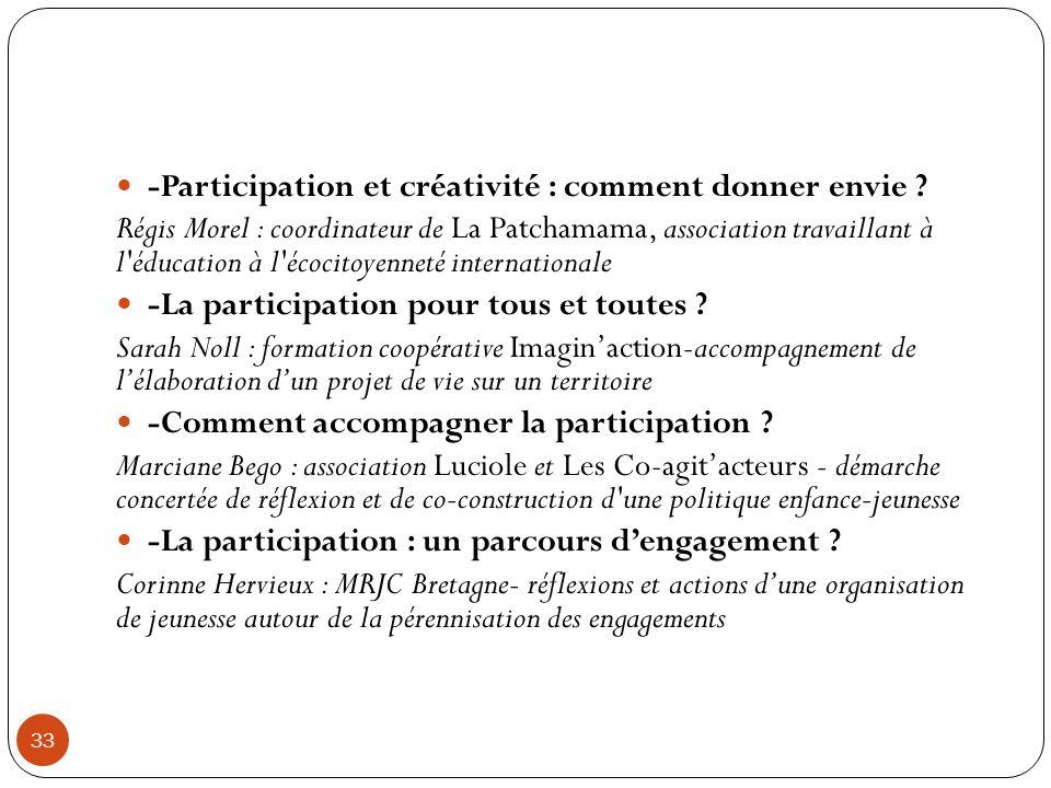-Participation et créativité : comment donner envie