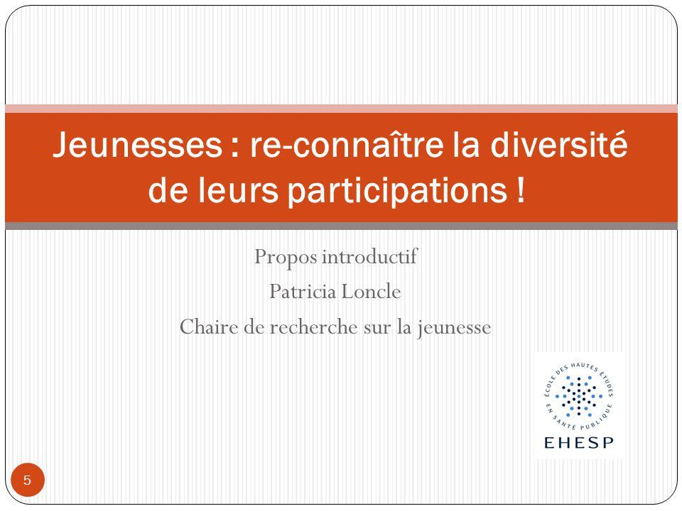 Jeunesses : re-connaître la diversité de leurs participations !