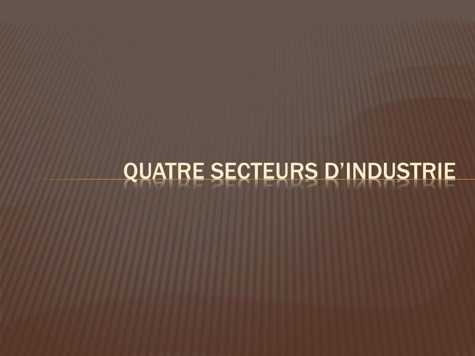 quatre secteurs d'industrie