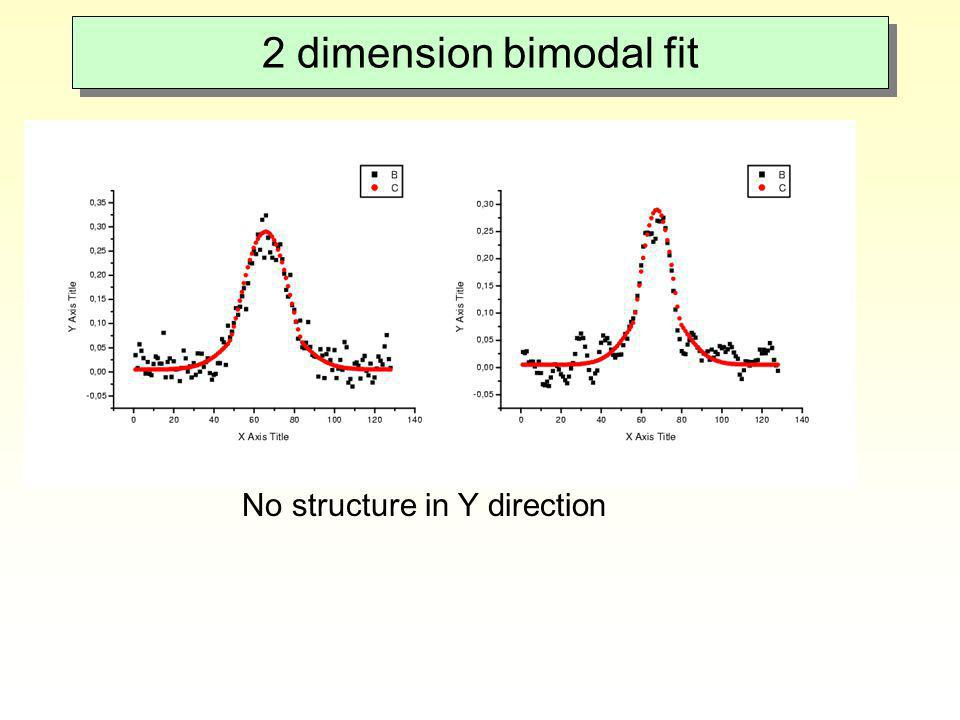 2 dimension bimodal fit No structure in Y direction