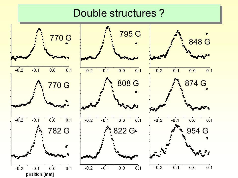 Double structures 795 G 770 G 848 G 808 G 874 G 770 G 782 G 822 G