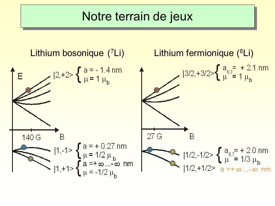 Notre terrain de jeux Lithium bosonique (7Li)