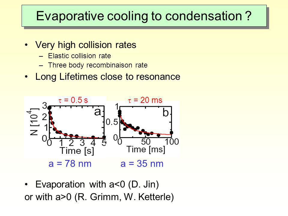 Evaporative cooling to condensation