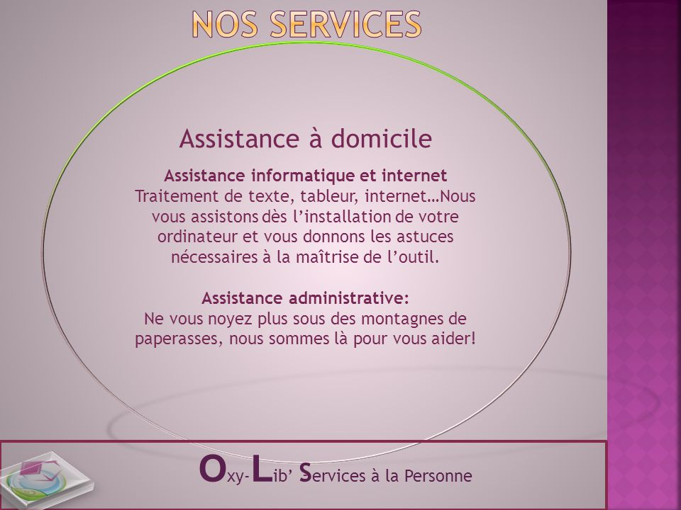 Assistance informatique et internet Assistance administrative: