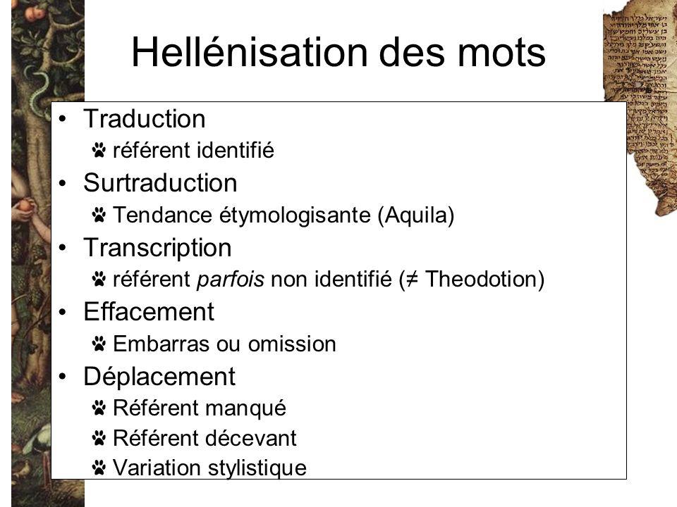 Hellénisation des mots