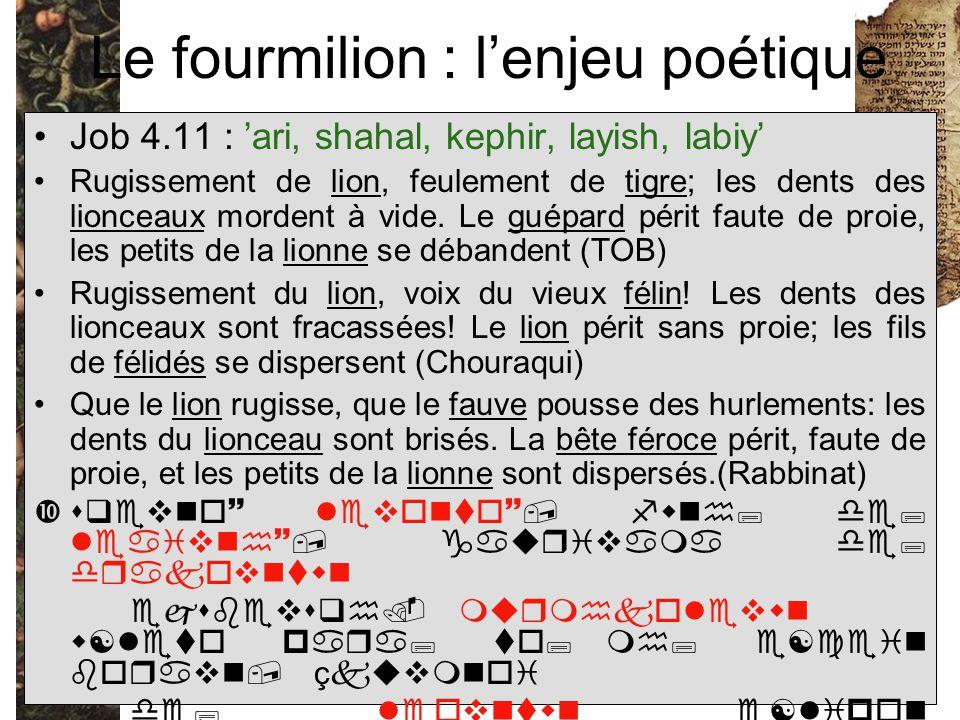 Le fourmilion : l'enjeu poétique
