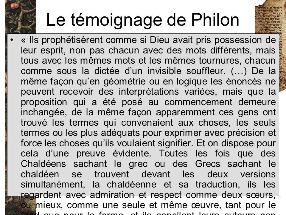 Le témoignage de Philon
