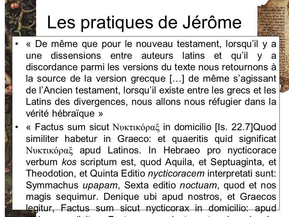 Les pratiques de Jérôme