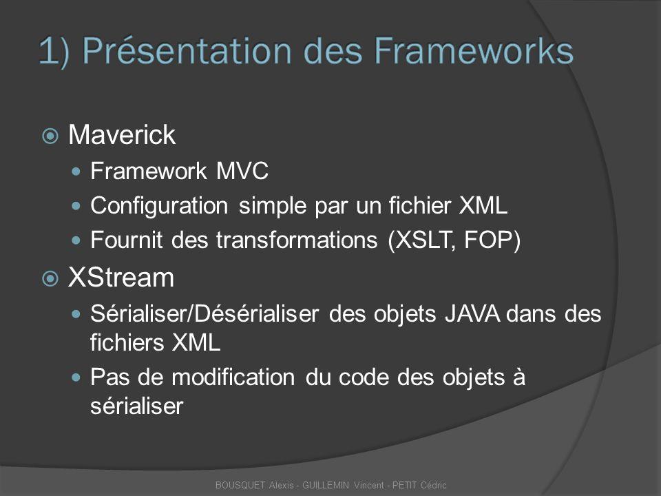 1) Présentation des Frameworks