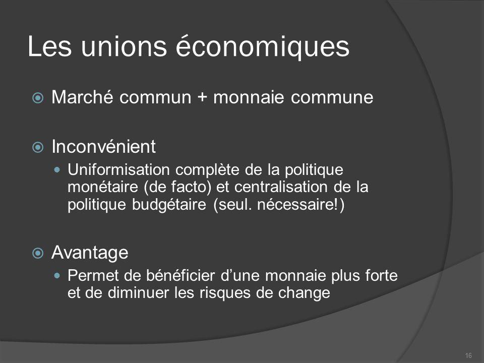 Les unions économiques