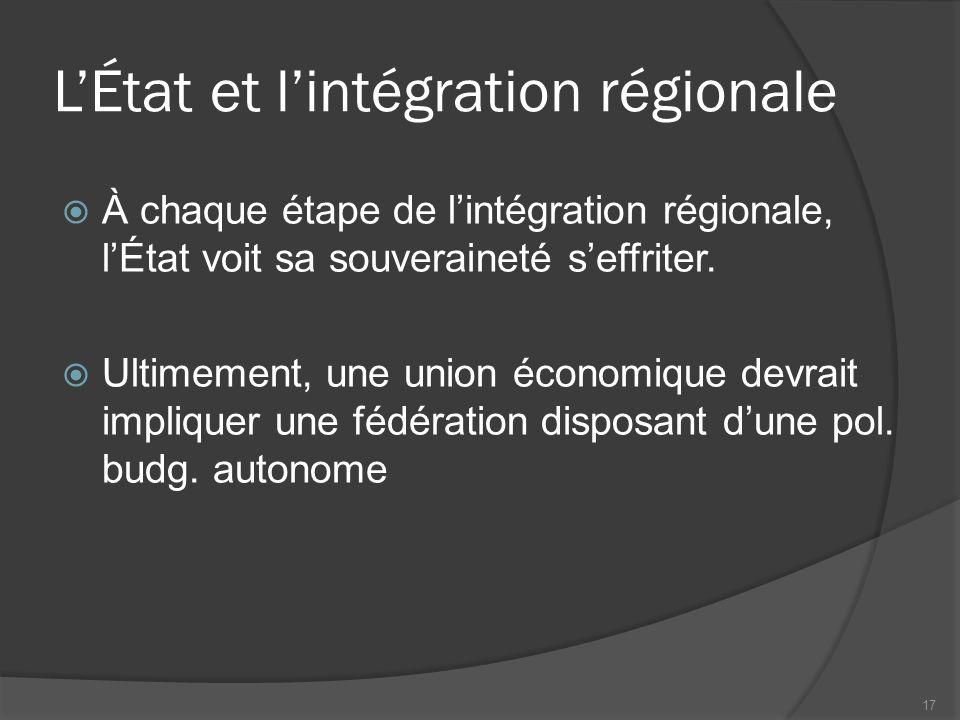 L'État et l'intégration régionale