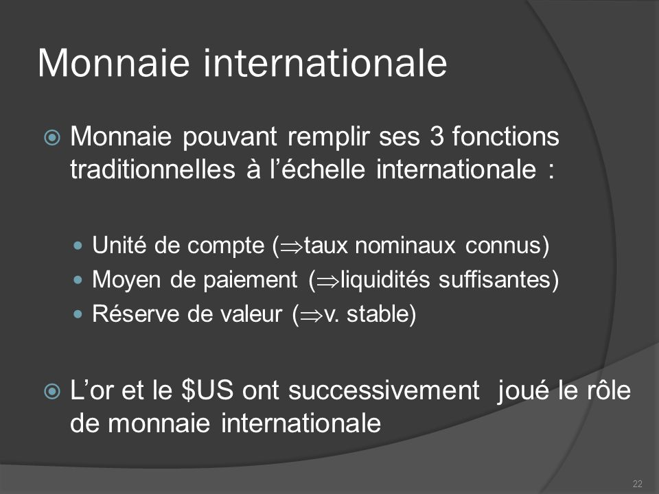 Monnaie internationale