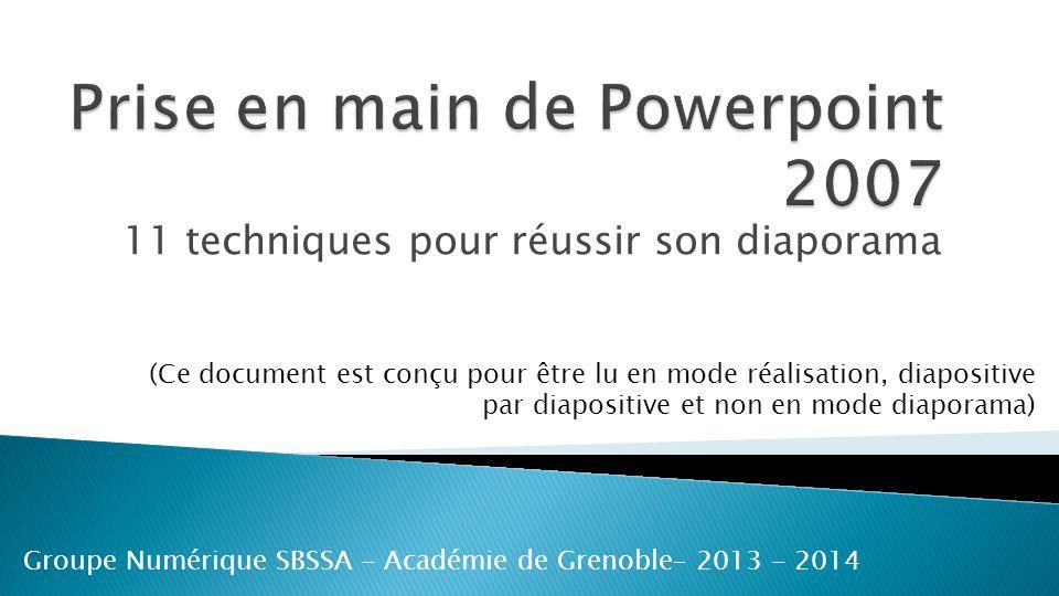 Prise en main de Powerpoint 2007