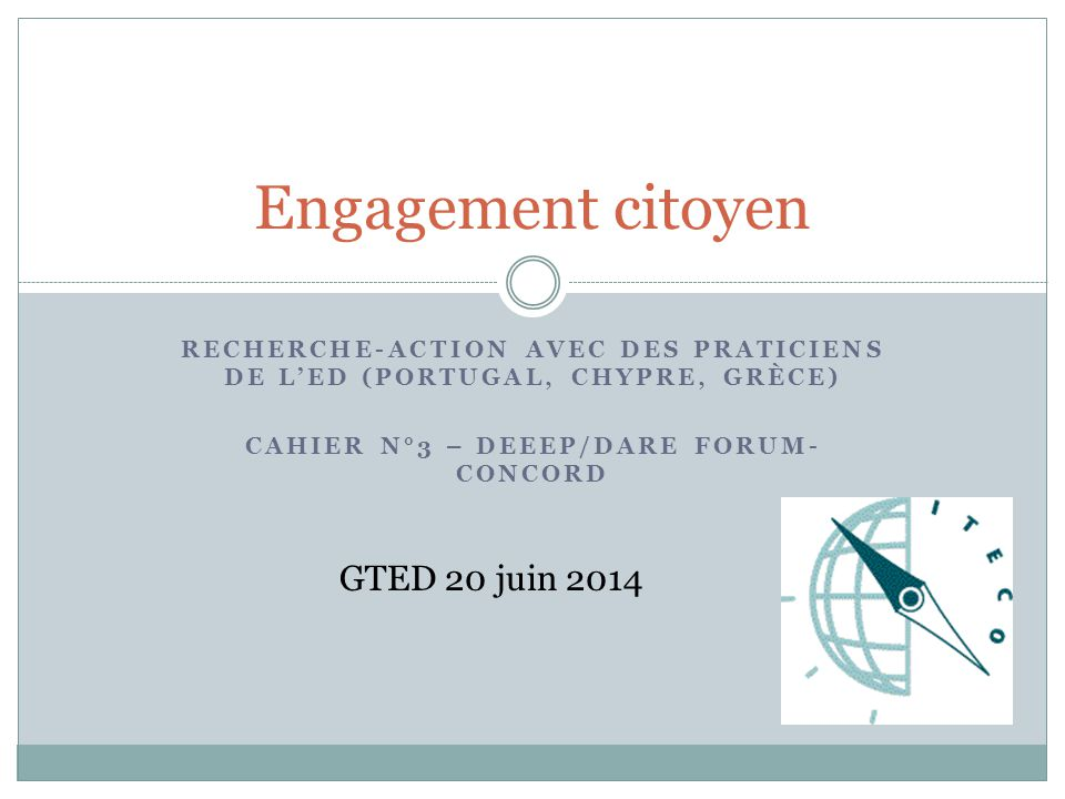Engagement citoyen GTED 20 juin 2014