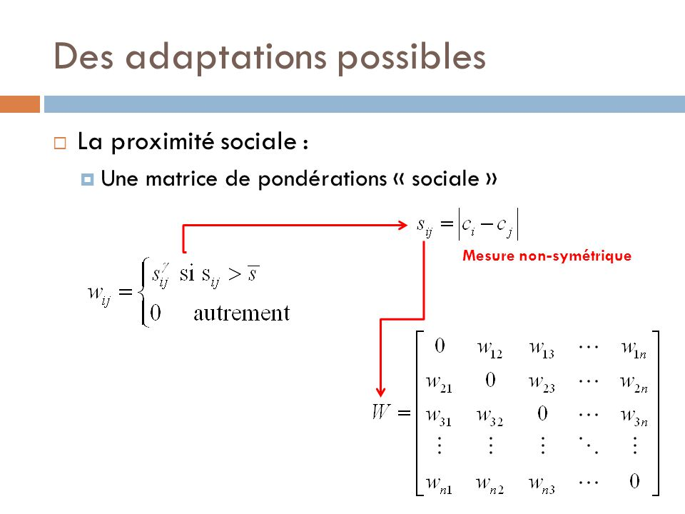 Des adaptations possibles