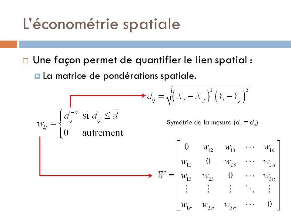 L'économétrie spatiale