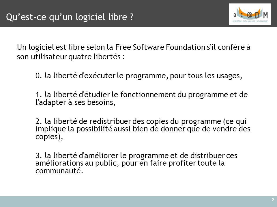 Qu'est-ce qu'un logiciel libre