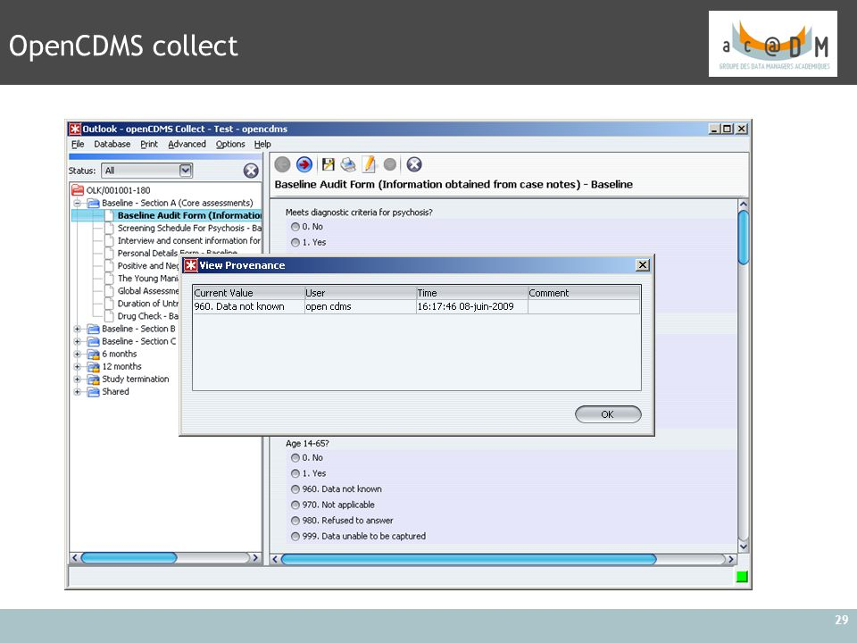 OpenCDMS collect